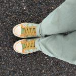 靴ひもをゴムに